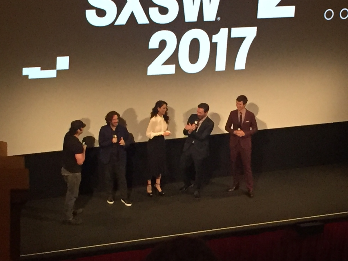 Edgar Wright and cast of Baby Driver